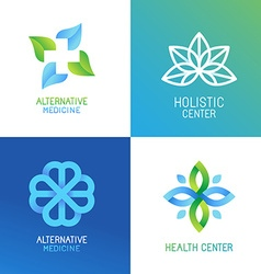 set of abstract logos and emblems vector image