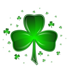 Shamrock isolated on white background vector