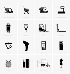 shopping and trading accessories vector image