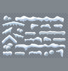 Snow ice set winter rocap design white blue vector