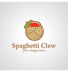 spaghetti clew logo vector image