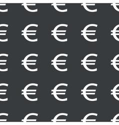 Straight black euro pattern vector