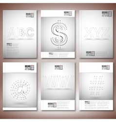 Three dimensional mesh stylish inscriptions - abc vector