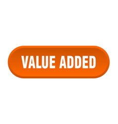 Value added button value added rounded orange vector