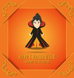 With halloween and vampire vector