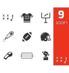 black football icons set vector image