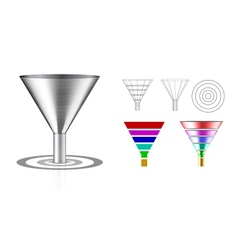 Conversion funnel vector image