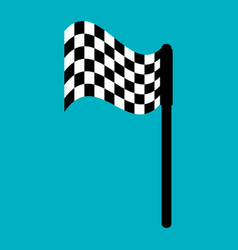 finish flag isolated icon vector image