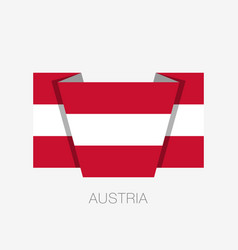 flag of austria flat icon waving flag with vector image