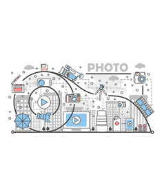 photo concept flat line art vector image vector image