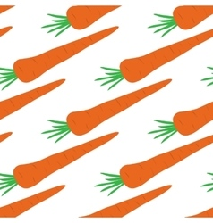 seamless texture with carrots vector image