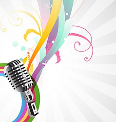 stylish mic background vector image