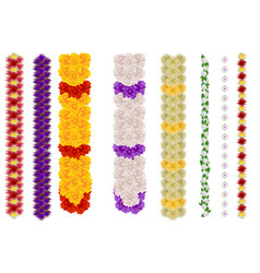 vertical flower garland for indian holiday ugadi vector image vector image
