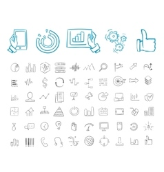 Business and infographic icon set vector