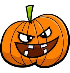 jack o lantern cartoon vector image vector image