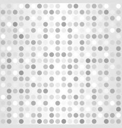 Polka dot pattern seamless silver background vector