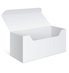 Realistic white Package Box For Software device vector image vector image