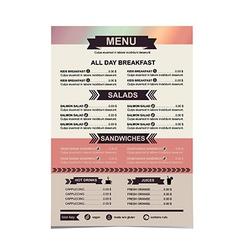 Restaurant menu template design vector image vector image
