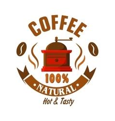 Retro coffee grinder icon for vintage cafe design vector image vector image