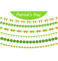 st patrick s day garland set festive decorations vector image vector image
