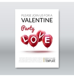 Template invitation valentine holiday Holiday vector image