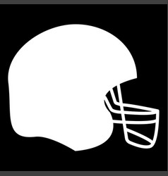 American football helmet the white color icon vector