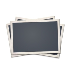Blank retro photo frame vector image vector image