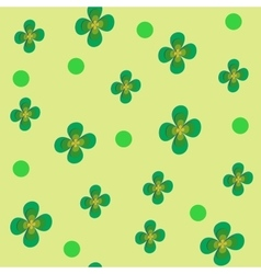 Flower green seamless pattern vector image vector image