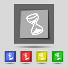 hourglass icon sign on original five colored vector image