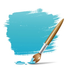 Paint brush blue background vector image vector image