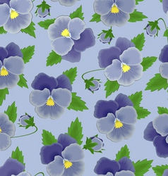 pansies seamless background vector image vector image