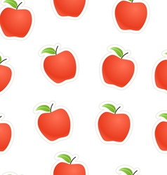 Red apples seamless background vector image vector image
