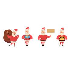set of cartoon christmas isolated on vector image
