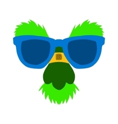 Cartoon classic disguise mask to a face icon vector image