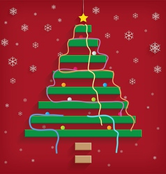 Christmas tree steps vector image vector image