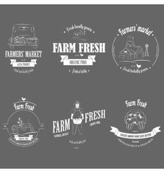 Farm Fresh Products Badge Set vector image vector image