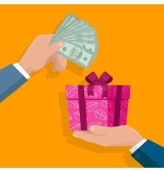 Making gifts concept in flat design vector