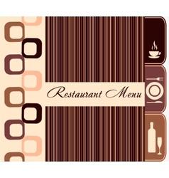 Template of restaurant menu vector image vector image