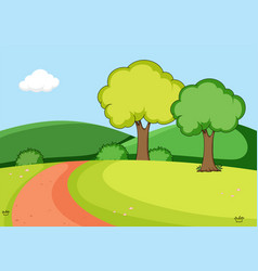 a nature park background vector image