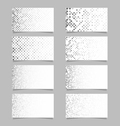 abstract rounded square pattern business card vector image