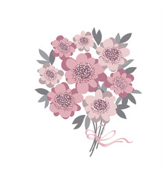 abstract stylized floral abstract wedding bouquet vector image vector image