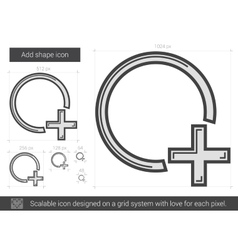 Add shape line icon vector