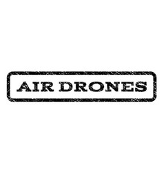air drones watermark stamp vector image