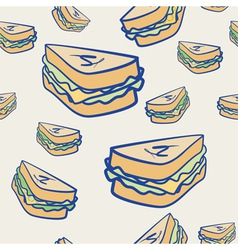 Background pattern of cheese sandwiches vector