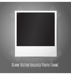 Blank instant photo frame sticked to wall vector