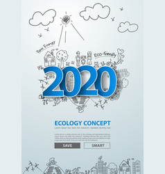 blue tags label 2020 new year text design vector image