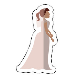 bride wedding standing pose vector image