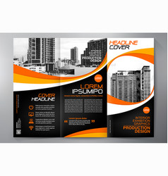 brochure 3 fold flyer design a4 template vector image