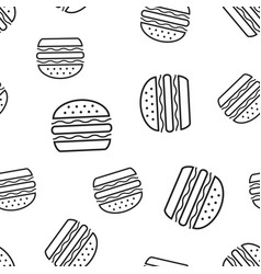 burger fast food seamless pattern background vector image