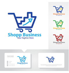 business up shop logo designs vector image